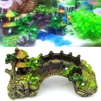 Wholesale Fish Manufacturers - Manufacturer resin deocorations rockery ornaments ecological fish tank aquarium accessories with wholesale price simulation bridge