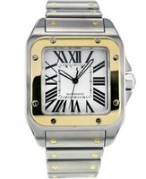 Wholesale Stainless Square Watch - AAA High Quality Stainless steel and 18K Gold Automatic Silver Dial Men's Watch W200728G Mens Sports Wrist Watches.