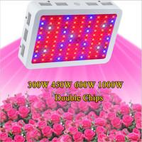 kapalı mavi led aydınlatma toptan satış-Tam Spektrum 300 W 600 W 800 W 1000 W 1200 W 1600 W Çift Çip LED Büyümek Işık Kırmızı / Mavi / Beyaz / UV / IR topraksız ve kapalı bitkiler için