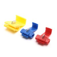 Wholesale quick lock connector online - 50pcs Suyep Quick Splice Lock Wire Terminals Connector Electrical Crimp Red blue yellow assortment kit