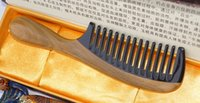 Wholesale Wide Tooth - brand Wide Tooth Horn comb sandal Wood comb curl Hair Comb Handmade comb-722