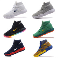 Wholesale George Laces - New Arrival Hyperdunk 2017 Lapel Paul George Weaving Men's Basketball Shoes for Top quality Olympic USA Oreo Grey Wolf Sneakers Size 40-46