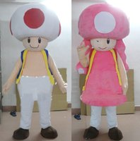 Wholesale Mushroom Halloween Costumes - Custom High quality made Super Mario mascot costumes Mushroom mascot costumes Halloween Costumes Chirstmas Party Adult Size Fancy Dress