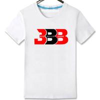 Wholesale Quality Tshirt Printing - BBB star t shirt Lonzo Ball short sleeve gown Basketball sport tees Leisure unisex clothing Quality cotton Tshirt