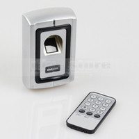 Wholesale Door Security Fingerprint - Fingerprint Door Lock Access Control Controller Security Kit 1000 Users Metal Case + Remote Control Free Shipping F007