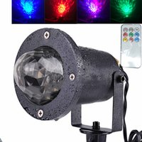 Wholesale ocean wedding decorations - Water Wave RGB LED Stage Lighting Ocean Wave Projector Light 7 Color with Remote Control for KTV Party Wedding Club Bar Decoration