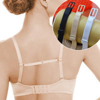 Wholesale Double Shoulder Strap - Wholesale-Double-shoulder strap slip-resistant belt buckle shoulder strap bra with back hasp sports non-slip New 3 Colors