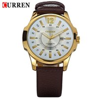 Wholesale 8123 Curren - Hot Men's Casual CURREN 8123 watches men Luxury brand quartz Watch leather strap Sports Waterproof Wristwatch Business casual watches