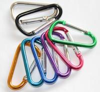 ingrosso ganci a scatto a catena chiave-Moschettone anelli portachiavi Key Chain Outdoor Sports Campo Snap a gancio portachiavi escursionismo alluminio dell'acciaio inossidabile del metallo escursionismo campeggi logo