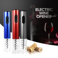Wholesale corkscrew electric - Original Automatic Wine Bottle Opener Kit Automatic Corkscrew Electric Wine Opener Cordless With Foil Cutter And Vacuum Stopper