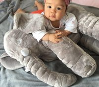Wholesale Chose Doll - Baby Elephant Pillow Animals Toys Lovely Soft Plush Dolls Toddle Safe Sleep Calm Toys Room Bed Decoration 5colors choose