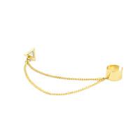 Wholesale Triangle Clip Earrings - Cuff Earrings for Women & girls Punk Triangle Tassels chains gold plated Dangle Cuff clip earrings Charms Metallic Wrap Ear Cuff Earings