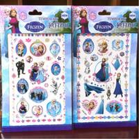 Wholesale Custom Face Tattoo Stickers - Wholesale Cartoon Ice Princess Family custom design adhesive free Tattoo Stickers Waterproof Henna Styling children girls Sticker