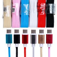 Wholesale Color Cable Set - 1.5 m Type - c braided cable Woven nylon card set of usb cable aluminum alloy charging line