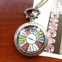 oval chain wheels - 100 Brand New cm Chain Retro Style Wheel Rome Pocket Watch Vintage Steampunk Pocket Watch Pendant Long Necklace for Women Men