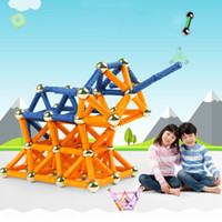 Wholesale Magic Box Sets - 96 Pcs Set Magformers Toy 3D Magnetic Block Building Toy Creativity Educational Childrens Christmas Gift With Box Magic Toys