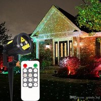 Wholesale Christmas Laser Stage - Christmas Laser garden lights decoration lamp red and green light auto strobe outdoor waterproof lawn light timer control stage lights