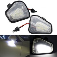 ayna pasatosu toptan satış-2x Hata Ücretsiz 18 LED Beyaz Araba Yan Ayna Altında Puddle Işık Lambası Oto ampul Araba Işık Kaynağı VW Passat EOS Scirocco CC için Fit