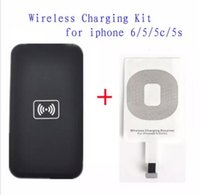 Wholesale Iphone Wireless Charge Kit - Qi wireless charger Kit for iPhone 6 5 5c 5s wireless charge Charging Pad and Receiver Card kit cell phone charger
