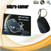 720x480 Car Key Chain Camera Car Keychain Câmera DVR Covert Video Recorder de áudio 808 Mini DV DVR escondido 50pcs / lot DHL frete grátis (A)