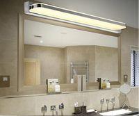 Wholesale Bathroom Led Vanity Lights - Acrylic Bathroom LED Mirror Light SMD5050 Mini Style waterproof LED wall sconces front light Stainless steel vanity led light