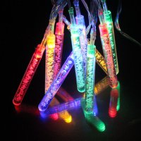 10LEDs Multicolor Icicle Battery Powered Christmas Fairy Lights Festival Свадебная вечеринка Декоративное освещение LED String Lights