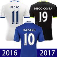Wholesale Chelsea Jersey Shorts - 2016 2017 chelsea jersey soccer thai quality third white 16 17 chelsea Hazard Camiseta de futbol OSCAR TERRY BATSHUAYI maillot de foot