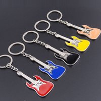 Wholesale Cartoon Violin - Multicolor metal guitar violin Keychain creative musical instruments opening gifts gifts personality