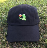 Kermit Tea Hat The Frog Sipping Drinking Tea Baseball Dad Visor Cap Emoji Novo Popular 6 Painel polos caps hats para homens e mulheres