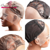 Wholesale Lace Net Wigs - Professional Lace Wig Caps for Making Wig Swiss Lace Front Cap with Adjustable Straps and Combs Brown Black Lace Small Medium Net Cap