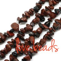 5mm-8mm irregular natural de Brown Obsidiana piedra grava de los granos flojos Strand 80cm pulsera al por mayor DIY (F00343) al por mayor
