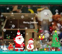 Tema Natale Home Decor Xmas sticker da parete camera da letto decorativo smontabile vinile adesivo poster Per Decalcomanie da muro