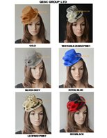 Wholesale Sinamay Mini Hats - NEW DESIGN Sinamay Mini Top Hat Fascinator with Sinamay Calla Lilies .Ideal for Bridal Wedding,Races
