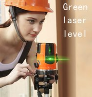 Wholesale Green Laser Cross - Wholesale-360degree Self- leveling Cross Laser Level green HOT SALE Level Laser Level Tools