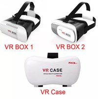 telefone 3d google venda por atacado-Cabeça de montagem de plástico VR caixa de versão 3D óculos de realidade Virtual Rift Google Papelão 3D filme para 3.5