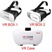 virtuelle realität google 3d kunststoff karton großhandel-Kunststoff-VR-BOX-Version für 3D-Brille mit 3D-Brille Riss Google Karton 3D-Film für 3,5