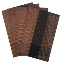 ingrosso tavolo di bambù corridori all'ingrosso-Set di 4 tovagliette in plastica di bambù in PVC per il runner da tavola