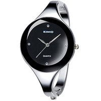 Wholesale Kimio Watch Women - Good quality Women Girl KIMIO Round dial stainless steel Band Bracelet quartz Wrist watch