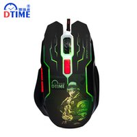 Wholesale lol brand - Wholesale- DTIME Brand Wired Game Mouse Optical USB Gaming Mouse Gamer Mice For Computer PC Laptop deathadder Bloody CS Go X7 3200DPI LOL