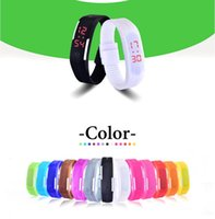 Wholesale Children Candy Bracelet Watch - factory direct LED bracelet watch fashionable outdoor sports electronic watches children Candy Silicone Rubber Digital Screen