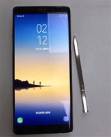 Dual Rom Android Baratos-NOTA 8 goofón note8 androide 6.0 smartphone 6.3 pulgadas HD 64bit MTK6580 Teléfonos celulares de la base del patio 4g 1gb ROM 8gb ROM falso 4g lte 64gb DHL
