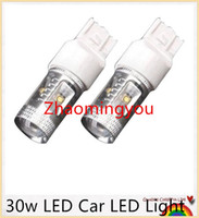 Wholesale P21w Cree Canbus - 10 Pieces Lot 30w White Canbus Error Free Cree P21W BA15S 1156 LED Car Turn Signal Stop Light Bulb