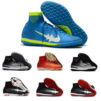 Wholesale Highest Discount Boots Mens - New Cheap Discount Mercurial Superfly V CR7 FG Mens Soccer Shoes Fashion Mercurial Superfly V NJR TF Football Boots High Ankle Soccer Cleats