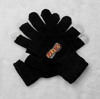 Wholesale Naruto Fingerless Gloves - Wholesale- New arrival men women winter gloves anime naruto printing touch screen gloves warm quality guantes