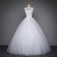 Wholesale korean up skirts - mdn-3 Korean Lace Up Ball Gown Quality Wedding Dresses 2017 Alibaba Customized Plus Size Bridal Dress Real Photo bridal gowns