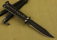 Wholesale Tactical Gear Wholesalers - Popular Knife 2 Style C26 Butterfly Balisong Folding Training Knives Camping Tactical Tools Utility Gear F891L