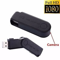 1080P Mini USB Disk Camera Câmeras HD Spy USB Flash Drive U Camcorder de disco Câmera de fuso pinhole escondida Video Recorder DVR em caixa de varejo