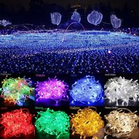 Wholesale Curtain Wall Decorations - AC110V 220V 100 200 300 500 LED Curtain Lights Christmas Fairy String Lights For Wedding Holiday Party Outdoor Wall Bathroom Decoration