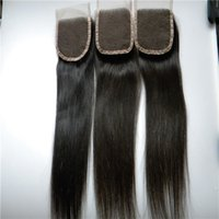 Wholesale Synthetic Silk Top Closure - Wholesale From Direct Factory Top Silk Straight Closure 4*4 Free Part Swiss Unprocessed Human Hair cheap lace closure