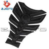 Wholesale Kawasaki Decals Black - ZJMOTO 3D Rubber sticker Motorcycle sticker Fuel Gas Tank Pad Protector Tank decals sticker For all KAWASAKI Z750 Honda CBR400